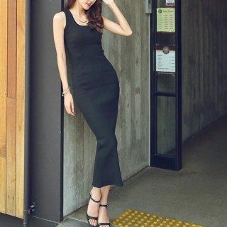 韓国ワンピース❤暑い夏にこれ1枚でOK!タイトデザインのきれいめワンピース 963020