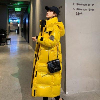 韓国アウター❤便利な内ポケット付き 光沢あるビビットカラーがおしゃれな可愛いダウンコート 963374
