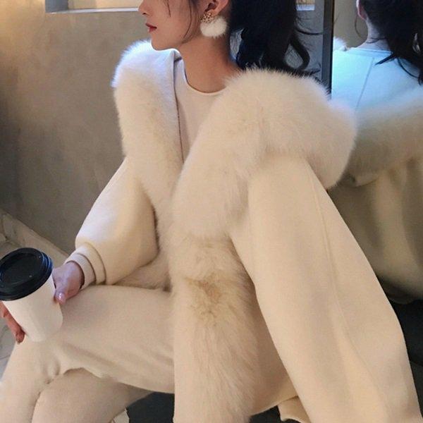 韓国アウター・ジャケットのファーコート・ファーベスト