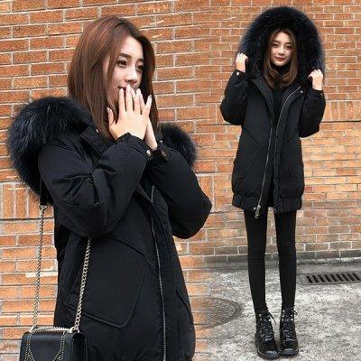 韓国アウター❤ビッグファーが可愛いモッズコート 963417