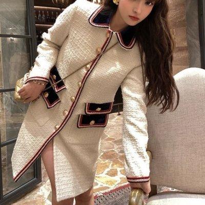 韓国アウター❤フェミニンな印象の可愛いステンカラージャケット 963441