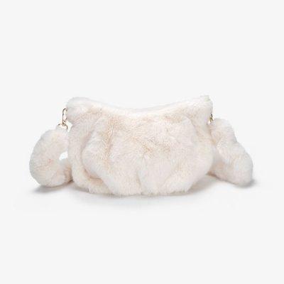 韓国バッグ❤秋冬におススメの可愛いファー三日月バッグ 963451