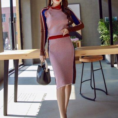韓国セットアップ❤単品でも使いまわせるニット&スカートの可愛いツーピース 963466