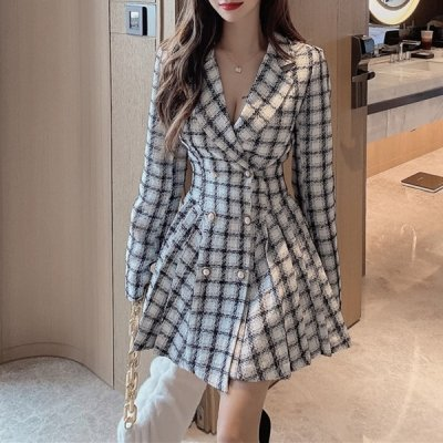 韓国ワンピース❤1着でキレイコーデが完成する可愛いアウターワンピース 963553