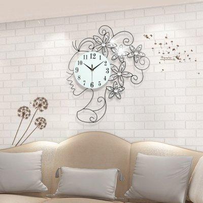 韓国掛け時計❤ガラス輝くアイアンアート女性の可愛い壁時計 963562