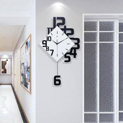 韓国掛け時計❤数字デザインがおしゃれな可愛い壁掛け振り子時計 963564