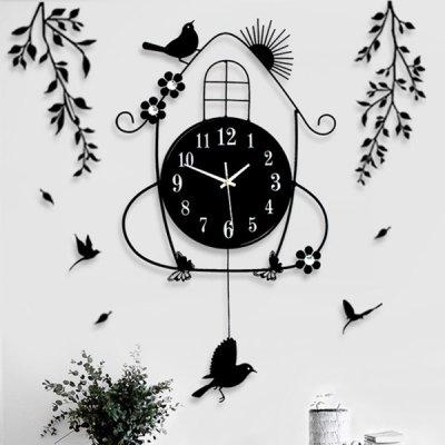 韓国掛け時計❤鳥をモチーフにしたナチュラルで可愛い壁掛け時計 963565
