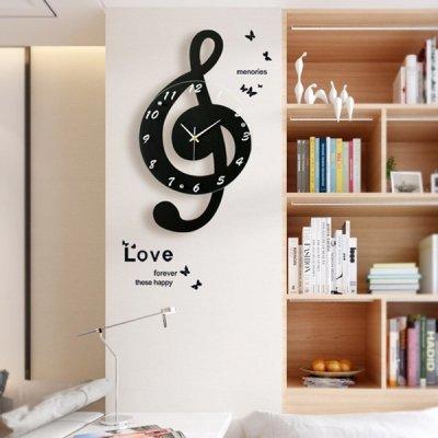 韓国掛け時計❤ト音記号デザインの可愛い壁掛け時計 963566