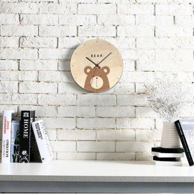 韓国掛け時計❤レトロで優しいアニマル柄が可愛い柄壁掛け時計 963576