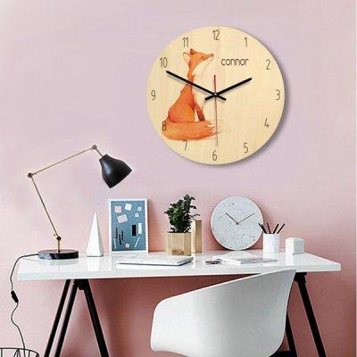 韓国掛け時計❤水彩デザインのアニマル柄が可愛い壁掛け時計 963577