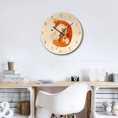 韓国掛け時計❤水彩タッチのアニマル柄が可愛い壁掛け時計 963579