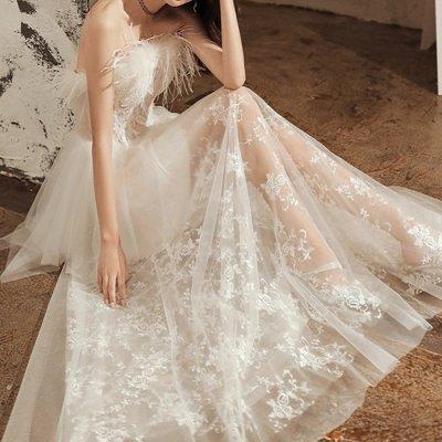 韓国ワンピース❤エレガントな羽デザインのロング丈お呼ばれパーティドレス 963619