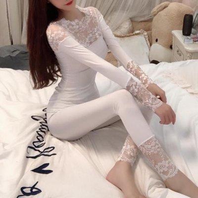 韓国ルームウェア❤レースデザインの可愛いアンダーウェア 963622