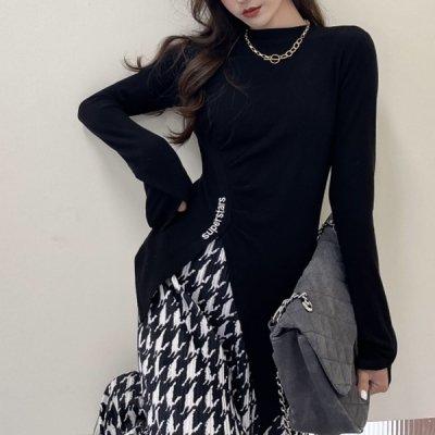韓国セットアップ❤カットソー&ワイドパンツの可愛いツーピース 963630