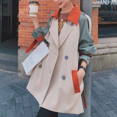 韓国アウター❤3色カラーが可愛いショート丈トレンチコート 963655