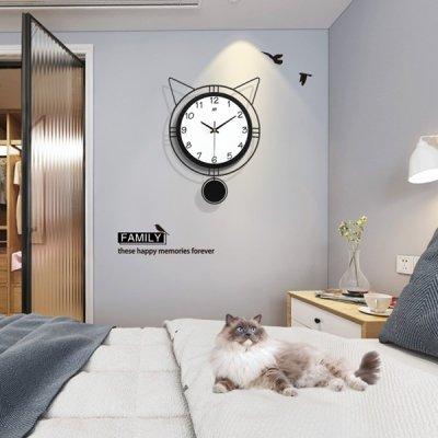 韓国掛け時計❤猫デザインの可愛い壁掛け時計 963713
