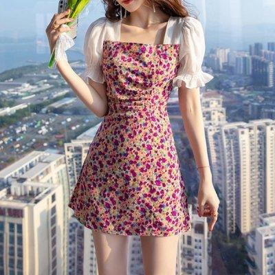韓国ワンピース❤鮮やかなカラーが目を惹く可愛いカラフルワンピース 963829