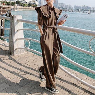 韓国オールインワン❤襟のbigフリルが可愛いオールインワン 963838