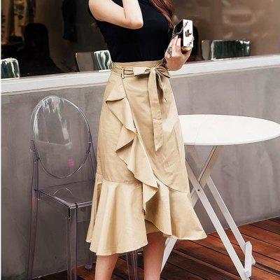 韓国スカート❤フリルデザインの可愛いマーメイドスカート 963856