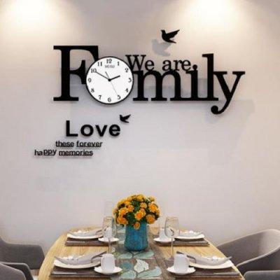 韓国掛け時計❤英字プレート付きの可愛い壁掛け時計 963863