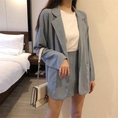 韓国セットアップ❤ジャケット&ミニスカートの可愛い量産型ツーピース 963993
