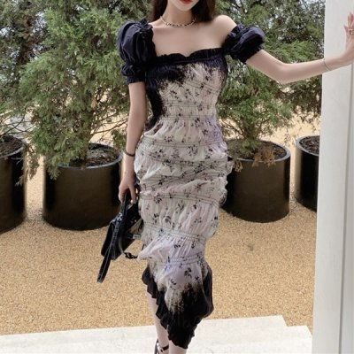 韓国ワンピース❤くしゅくしゅしたデザインが可愛い個性的なワンピースドレス 963994