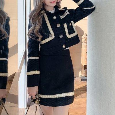 韓国セットアップ❤ジャケット&ミニスカートの可愛い韓国ツーピース 964090