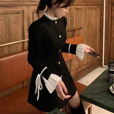 韓国ワンピース❤ブラウスコンビデザインが可愛いお嬢様ワンピース 964140