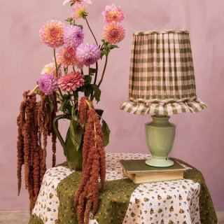 Leinikki patchwork tablecloth, olive