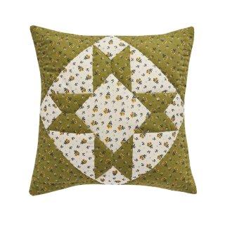 【10月入荷予約】Leinikki patchwork cushion cover olive