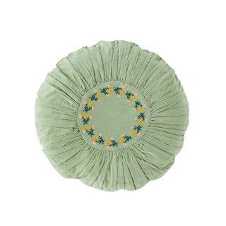 【10月入荷予約】Leinikki corduroy round cushion, pistachio