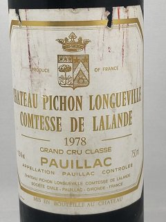 <img class='new_mark_img1' src='https://img.shop-pro.jp/img/new/icons50.gif' style='border:none;display:inline;margin:0px;padding:0px;width:auto;' />1978 CH.PICHON LONGUEVILLE COMTESSE DE LALANDE   30,000    シャトー・ピション・ロングヴィル コンテス・ド・ラランド