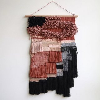 Big Blush Handwoven wallhanging