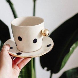 LILA cappuccino mug + plate SET