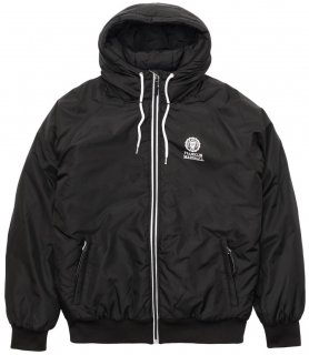 LIGHTWEIGHT HOODED WINDBREAKER Black