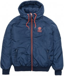 LIGHTWEIGHT HOODED WINDBREAKER NAVY