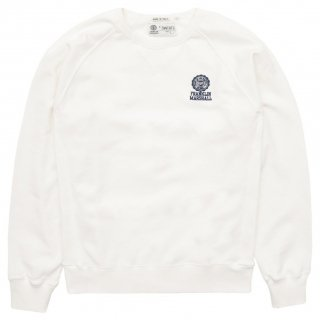 ROUND NECK RAGLAN SWEATSHIRT OLD WHITE