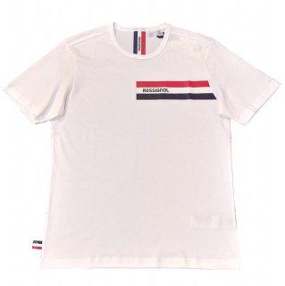 Rossignol logo stripe print T-shirt WHITE