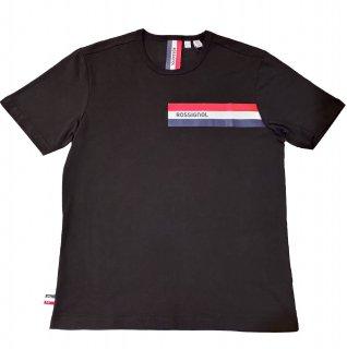 Rossignol logo stripe print T-shirt BLACK