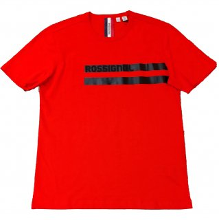 Rossignol logo stripe print T-shirt RED