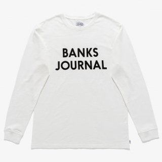 <img class='new_mark_img1' src='https://img.shop-pro.jp/img/new/icons14.gif' style='border:none;display:inline;margin:0px;padding:0px;width:auto;' />BANKS JOURNAL JOURNAL L/S TEE SHIRT Off White