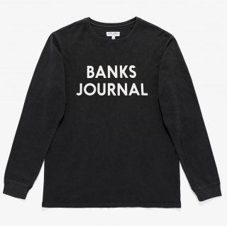 <img class='new_mark_img1' src='https://img.shop-pro.jp/img/new/icons14.gif' style='border:none;display:inline;margin:0px;padding:0px;width:auto;' />BANKS JOURNAL JOURNAL L/S TEE SHIRT Dirty Black