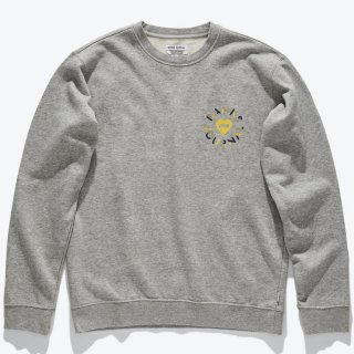 <img class='new_mark_img1' src='https://img.shop-pro.jp/img/new/icons14.gif' style='border:none;display:inline;margin:0px;padding:0px;width:auto;' />BANKS JOURNAL Heart Circles Crew Graphic Fleece HEATHER GREY