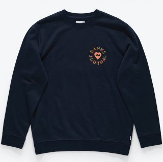 <img class='new_mark_img1' src='https://img.shop-pro.jp/img/new/icons14.gif' style='border:none;display:inline;margin:0px;padding:0px;width:auto;' />BANKS JOURNAL Heart Circles Crew Graphic Fleece DIRTY DENIM