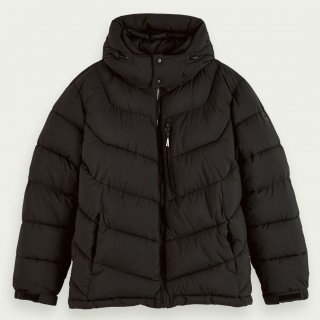 <img class='new_mark_img1' src='https://img.shop-pro.jp/img/new/icons14.gif' style='border:none;display:inline;margin:0px;padding:0px;width:auto;' />Mid-length padded jacket Black