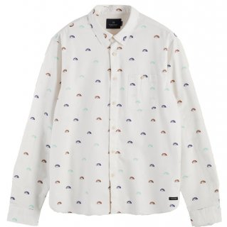 Scotch&Soda Long sleeve 100% cotton patterned oxford shirt