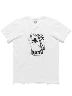 <img class='new_mark_img1' src='https://img.shop-pro.jp/img/new/icons14.gif' style='border:none;display:inline;margin:0px;padding:0px;width:auto;' />BANKS JOURNAL WEIRY PALMS Tee OFF WHITE