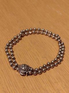 Emanuele Bicocchi Silver Double Beaded Bracelet