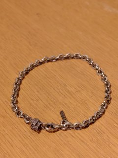 Emanuele Bicocchi Silver Skull Chain Bracelet