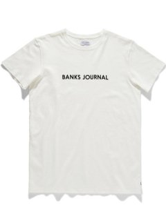 <img class='new_mark_img1' src='https://img.shop-pro.jp/img/new/icons14.gif' style='border:none;display:inline;margin:0px;padding:0px;width:auto;' />BANKS JOURNAL LABEL PRIMARY Tee OFF WHITE